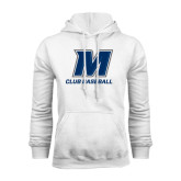 White Fleece Hood-Club Baseball