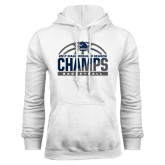 White Fleece Hood-2017 MAAC Regular Season Basketball Champs Half Ball