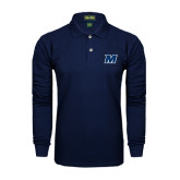 Navy Long Sleeve Polo-M
