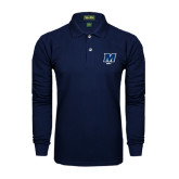 Navy Long Sleeve Polo-Golf