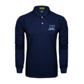 Navy Long Sleeve Polo-Cross Country
