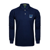 Navy Long Sleeve Polo-Sailing