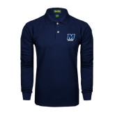 Navy Long Sleeve Polo-Bowling
