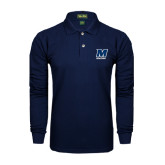 Navy Long Sleeve Polo-Athletics
