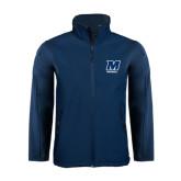 Navy Softshell Jacket-Football
