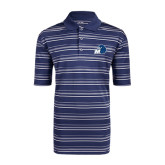 Adidas Climalite Navy Textured Stripe Polo-Hawk with M