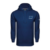 Under Armour Navy Performance Sweats Team Hood-M