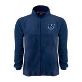 Fleece Full Zip Navy Jacket-Bowling