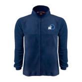 Fleece Full Zip Navy Jacket-Hawk with M