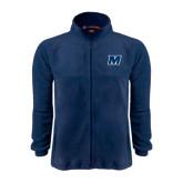 Fleece Full Zip Navy Jacket-M