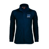 Ladies Fleece Full Zip Navy Jacket-Track and Field
