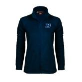 Ladies Fleece Full Zip Navy Jacket-M