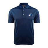 Navy Dry Mesh Polo-Hawk with M