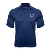 Navy Textured Saddle Shoulder Polo-Athletics