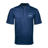 Navy Mini Stripe Polo-Track and Field
