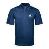 Navy Mini Stripe Polo-Hawk with M