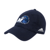 Adidas Navy Slouch Unstructured Low Profile Hat-Hawk with M