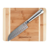 Oneida Cutting Board and Santoku Knife Set-Monmouth Engraved