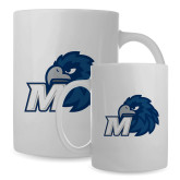 Full Color White Mug 15oz-Hawk with M