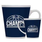 Full Color Latte Mug 12oz-2017 MAAC Regular Season Basketball Champs Half Ball