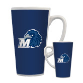 Full Color Latte Mug 17oz-Hawk with M