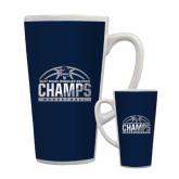 Full Color Latte Mug 17oz-2017 MAAC Regular Season Basketball Champs Half Ball