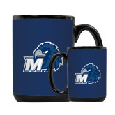 Full Color Black Mug 15oz-Hawk with M