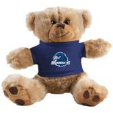 Plush Big Paw 8 1/2 inch Brown Bear w/Navy Shirt-Official Logo