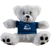 Plush Big Paw 8 1/2 inch White Bear w/Navy Shirt-Official Logo