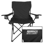 Deluxe Black Captains Chair-Monmouth Hawks Stacked