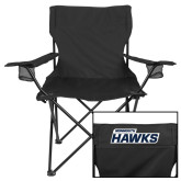 Deluxe Black Captains Chair-Monmouth Hawks