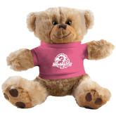 Plush Big Paw 8 1/2 inch Brown Bear w/Pink Shirt-Official Logo