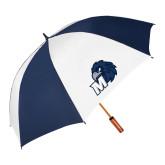 64 Inch Navy/White Umbrella-Hawk with M