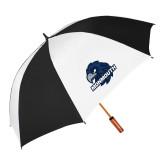 64 Inch Black/Whit Umbrella-Official Logo