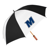 64 Inch Black/Whit Umbrella-M