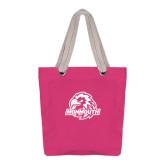 Allie Fuchsia Canvas Tote-Official Logo