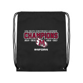 Black Drawstring Backpack-USA South Conference Lacrosse Champions