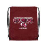 Maroon Drawstring Backpack-USA South Conference Lacrosse Champions