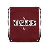 Maroon Drawstring Backpack-2017 Soccer Champions