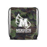 Nylon Camo Drawstring Backpack-Primary Mark