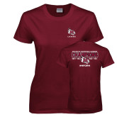 Ladies Maroon T Shirt-USA South Conference Lacrosse Champions