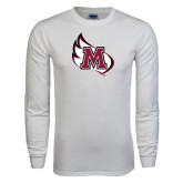 White Long Sleeve T Shirt-M Wing Icon
