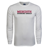 White Long Sleeve T Shirt-Wordmark
