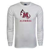 White Long Sleeve T Shirt-Alumnae
