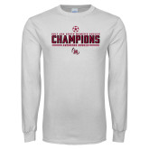White Long Sleeve T Shirt-2017 Soccer Champions