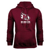 Maroon Fleece Hood-Primary Mark