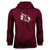 Maroon Fleece Hood-M Wing Icon