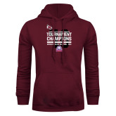 Maroon Fleece Hood-2016 USA South Volleyball Tournament Champions