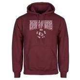 Maroon Fleece Hoodie-2018 Womens Lacrosse Champions Back of Shirt