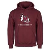 Maroon Fleece Hoodie-Field Hockey